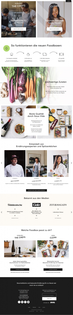 Eating with the Chefs Subscription Redesign