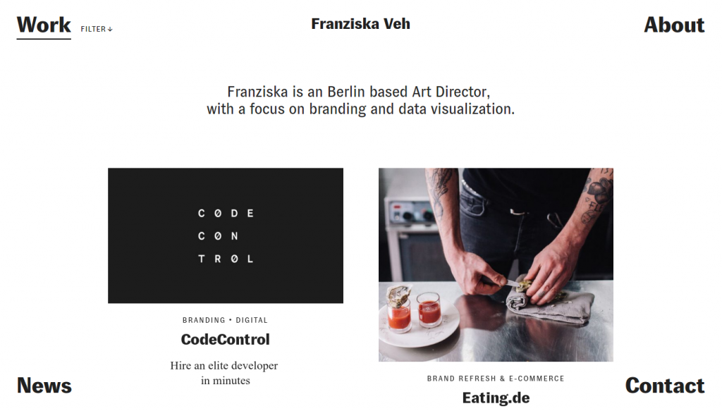 Franziska Veh homepage